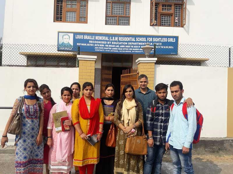 Visit To Blind School