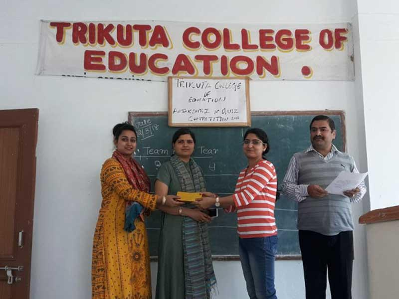 Winners Of Quiz And Antakshri Competition